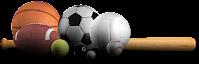 sports bats and balls